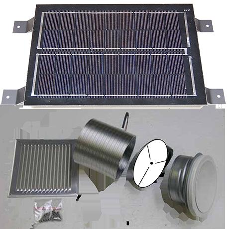 Odvětrací sada (včetně 6 -ti W solární buňky)