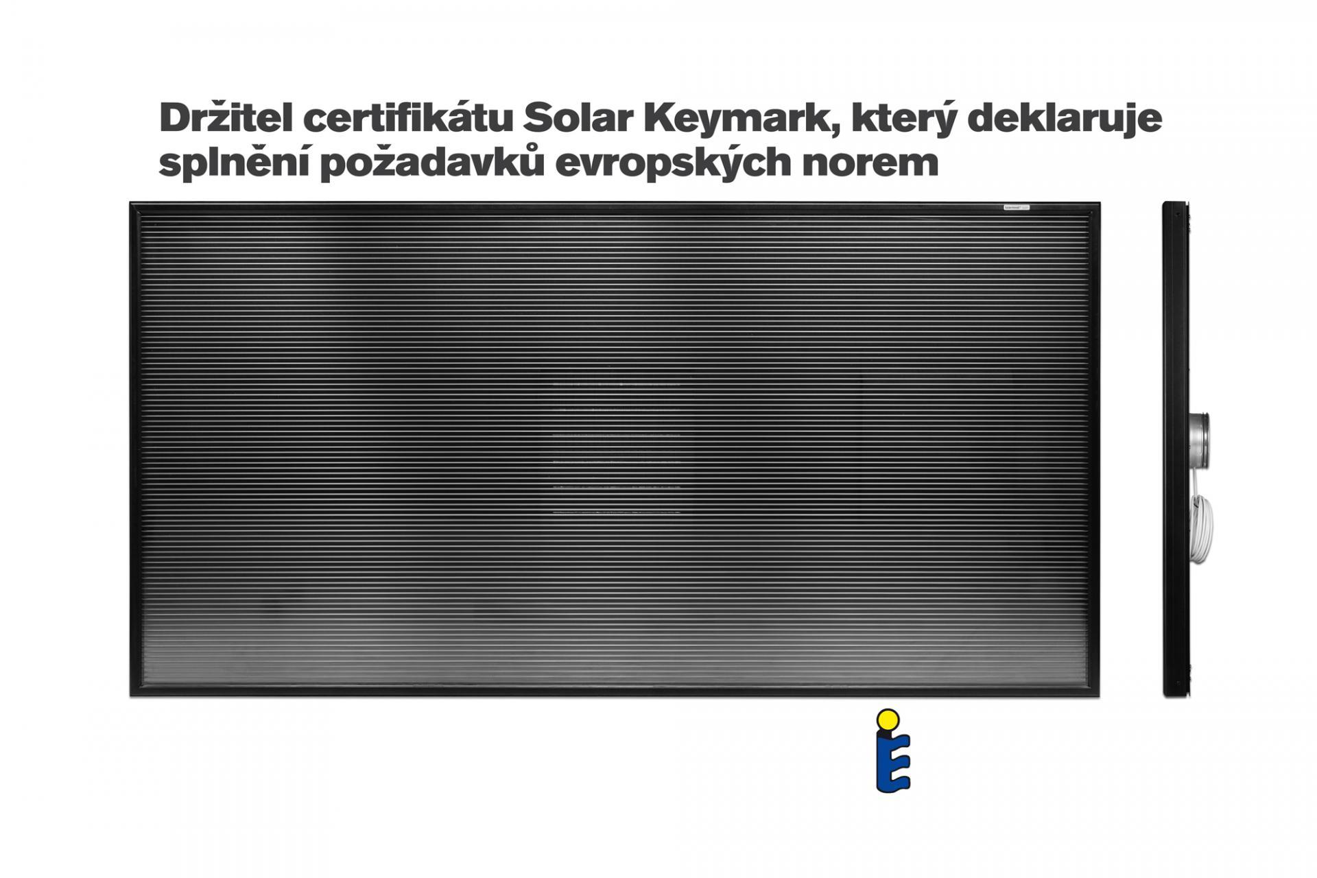 Teplovzdušný solární panel SolarVenti SV20 Comfort - (bez solárního článku)